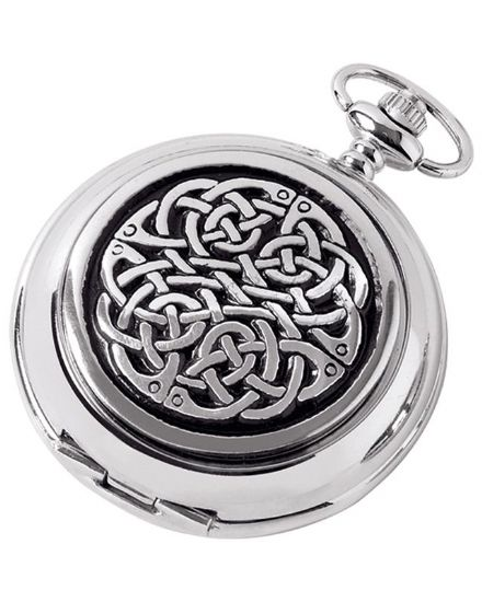 'Never Ending Knot' Quartz Pocket Watch with Chain